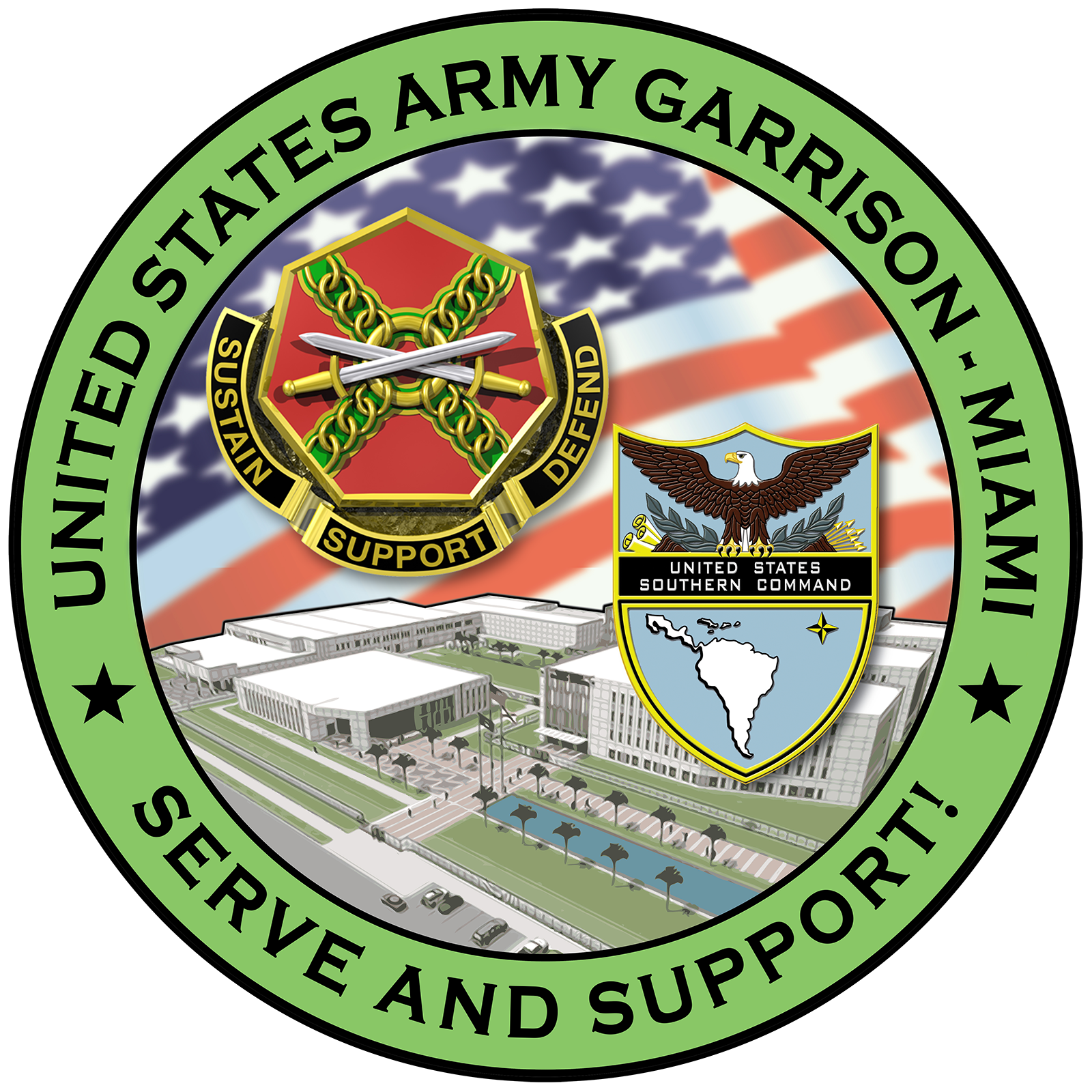 U.S. Army Garrison Miami official command logo